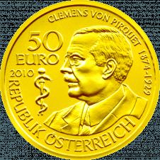 Gold Coin Clemens von Pirquet