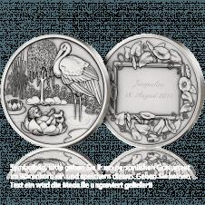 Medaille zur Geburt mit Gravur