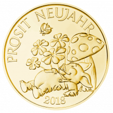 Glücksjeton 2018 Gold, Avers