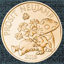 Glücksjeton 2018, bronze, Avers