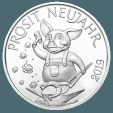 Lucky token 2019 silver