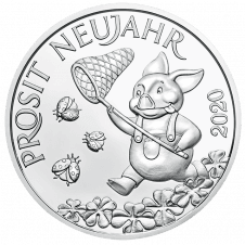 Lucky token 2020 in silver
