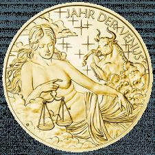 Kalendermedaille 2018 Gold avers