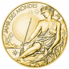 Calendar medal 2020 in gold