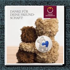 Teddybär-Medaille im Blister