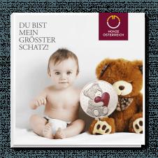 Teddybär-Medaille Baby Rot