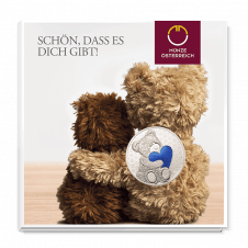 Teddybär-Medaille Freundschaft Blau
