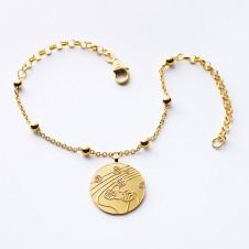 bracelet gold Kugeltanz