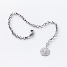 Love charm bracelet in silver