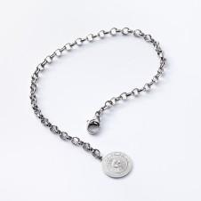 Sun charm bracelet in silver