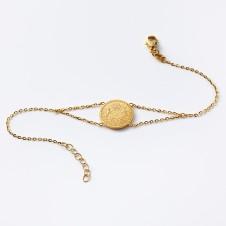 Gold sun bracelet