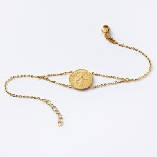 Birth bracelet in gold