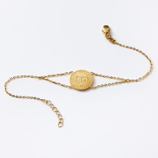 Cross bracelet in gold