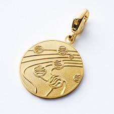 Charm-Anhänger gold Kugeltanz