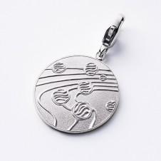 Charm pendants silver Kugeltanz