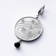 Collier pendants silver Kugeltanz