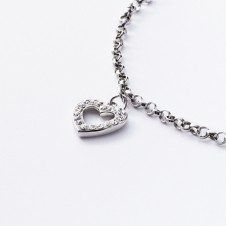 Silver Necklace with hearts