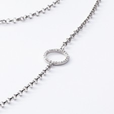 Silver Necklace with circles
