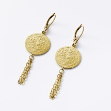 Love earrings in gold