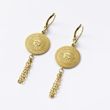 Sun earrings in gold