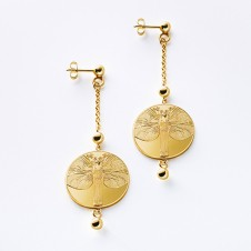 earrings in gold Erweckung