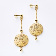 earrings Kugeltanz in gold