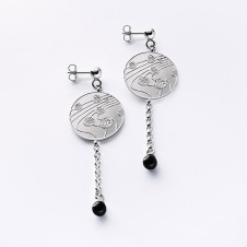 earrings Kugeltanz in silver