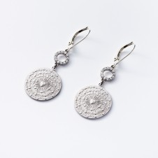 Love earrings in silver