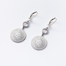 Sun earrings in silver