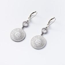Ohrhänger Sonne in Silber