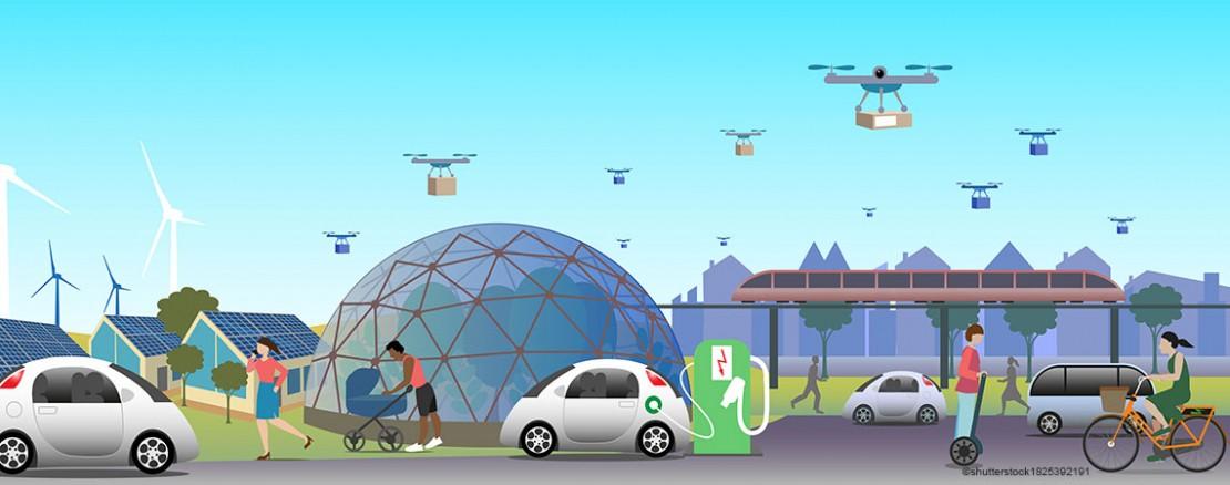 Mobilität der Zukunft Sujet Silber-Niob-Münze 2021