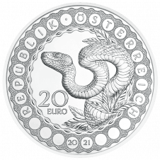 Silver coin - the serpent creator
