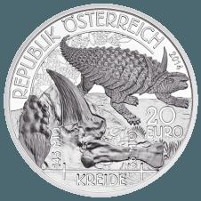 20-euro coin 2014 cretaceous period avers