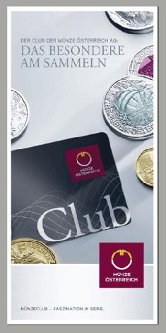 Münzeclub Werden Sie Mitglied Im Club Der Münze österreich