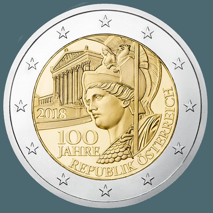 2 Euro 100 Jahre Republik Österreich Vorderseite