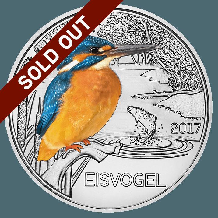 3-Euro coin Kingsfisher