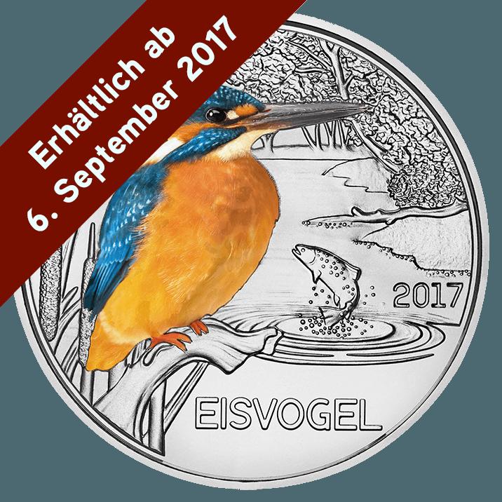 3 Euro Tier Taler Eisvogel