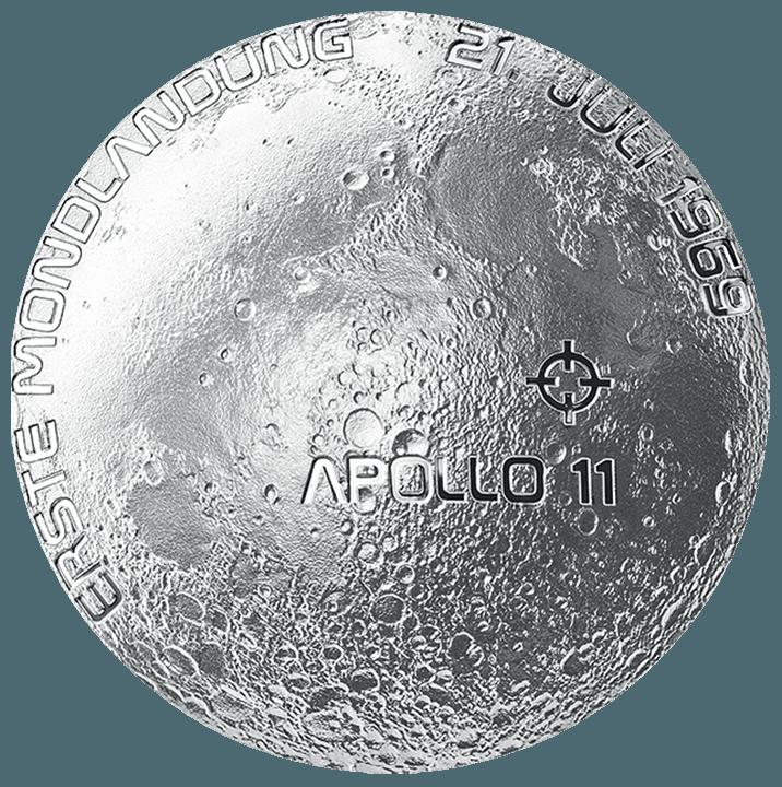 20 Euro Silbermuenze Mondlandung 2019 Revers