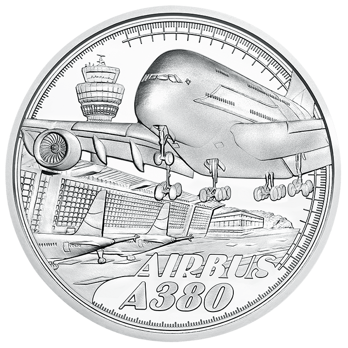 silver coin above the clouds