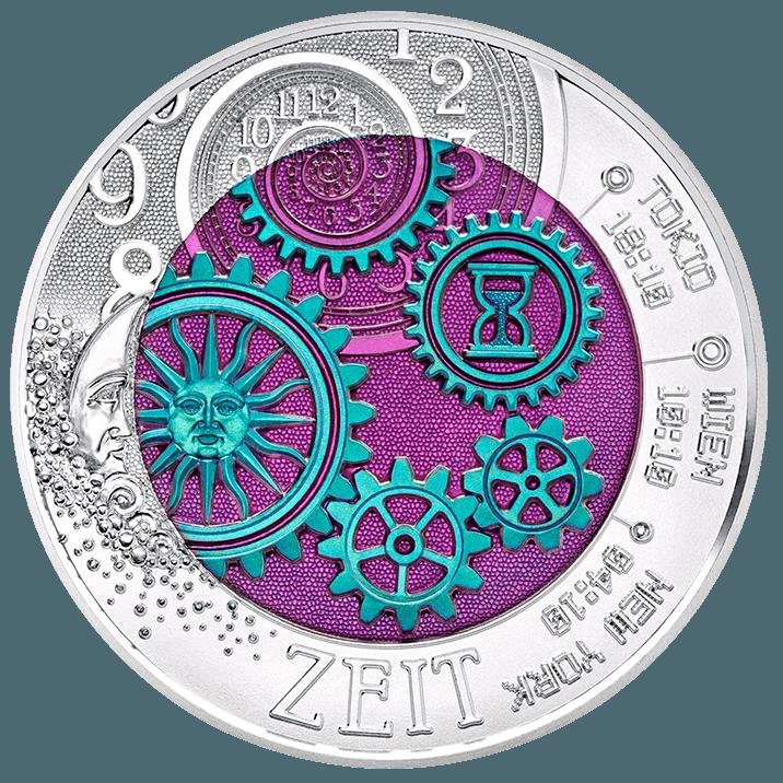 Silver Niobium Coin the Time