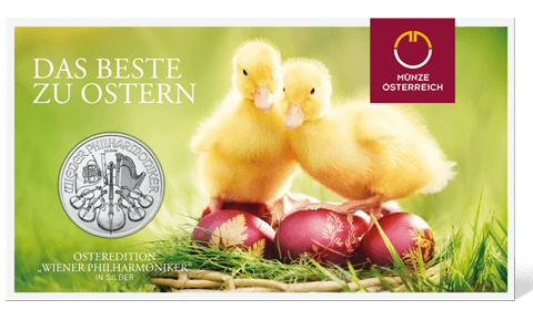 Easter coin in blister pack