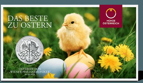 Easter coin in blister pack